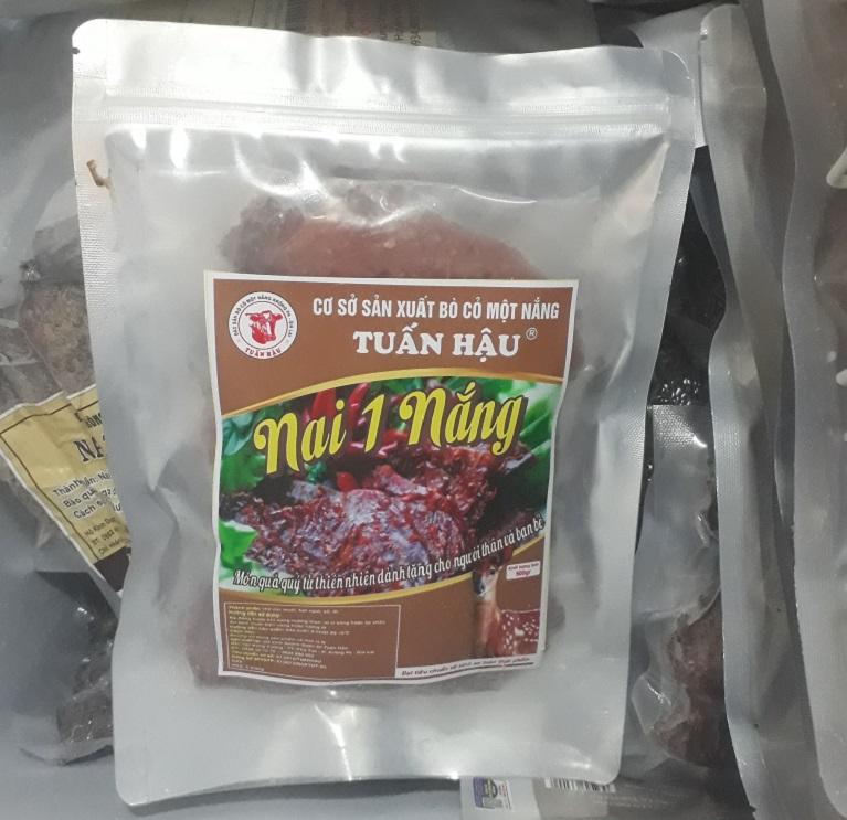 thịt nai một nắng Krongpa