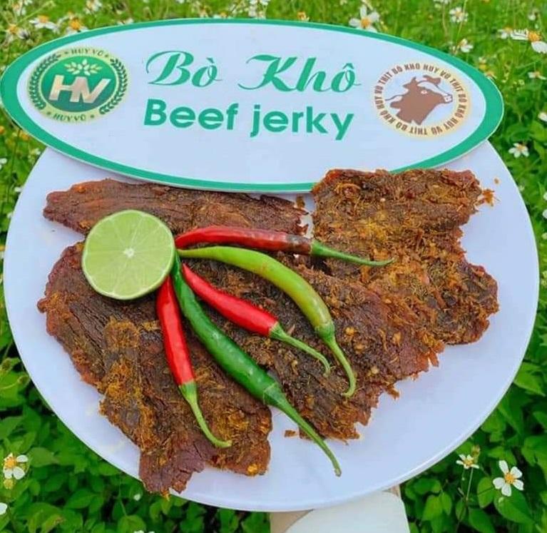 thịt bò khô miếng Huy Vũ Đắk Đoa