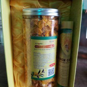 hộp trà hoa vàng